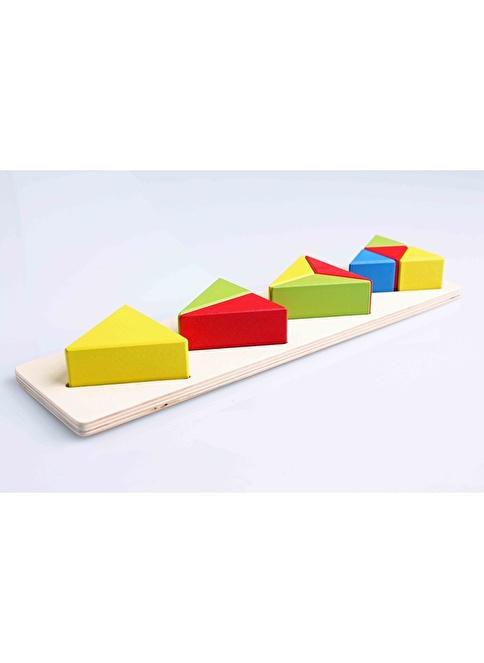 Learning Toys Büyük Ahşap Montessori Geometri Seti Renkli